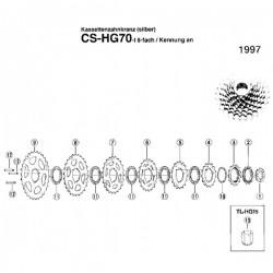 Koronka kasety 17z HG70-8