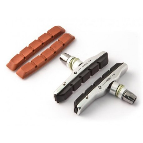 Klocki hamulcowe CLARK'S CP513 MTB XTR V-brake, Warunki Suche i Mokre, Obudowa aluminiowa 70mm