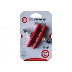 Klocki hamulcowe CLARK'S CP511 MTB V-brake, Warunki Mokre 70mm czerwone