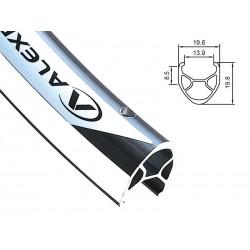 Obręcz szosa ALEXRIMS R450 700x32otw. bok CNC srebrna