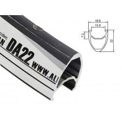 Obręcz szosa ALEXRIMS DA22 700x32otw. bok CNC czarna