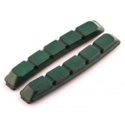 Wkładki hamulcowe CLARK'S CP503 MTB V-brake, Do obręczy ceramicznych 70mm zielone
