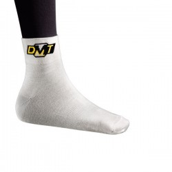 Skarpety DMT białe z żółtym logo roz.43-48