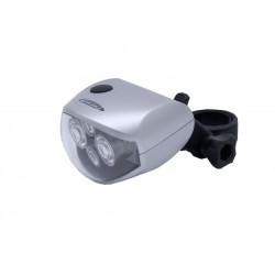 Lampka przednia FUTURA 4FOUR + baterie srebrna