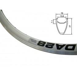 Obręcz szosa ALEXRIMS DA28 700x32otw. bok CNC srebrna