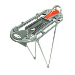 "Bagażnik aluminiowy ATRANVELO DISCOVERY KLICKFIX 26""-28"" na kluczyk srebrny"