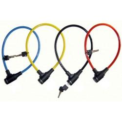 Zapięcie rowerowe MASTERLOCK QUANTUM 8169 8mm 65cm KLUCZYK mix kolorów