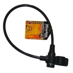 Zapięcie rowerowe MASTERLOCK QUANTUM 8269 8mm 65cm KLUCZYK czarne, przeźroczyste
