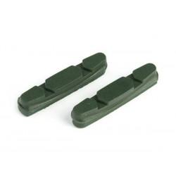 Wkładki hamulcowe CLARK'S CP231 SZOSA Shimano, Campagnolo, Do obręczy ceramicznych 52mm zielone