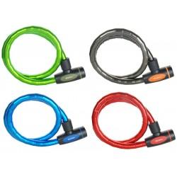 Zapięcie rowerowe MASTERLOCK QUANTUM 8228 18mm 100cm KLUCZYK mix kolorów