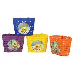 Koszyk na kierownice WIDEK SPONGE BOB plastikowy pomarańczowy pudełko 4szt.