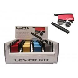 Łatki do dętek zestaw LEZYNE LEVER KIT BOX 2x łyżki, 6x łatki samoprzylepne mix kolorów