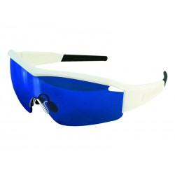 Okulary LAZER SOLID STATE1 Gloss White Smoke-Blue REVO, Yellow-Blue Mirror, Clear
