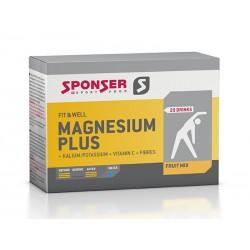 Magnez SPONSER MAGNESIUM PLUS w proszku mix owoców pudełko 20 saszetek x 6,5g