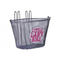 Kosz na rower dziecięcy FASTRIDER LITTLE LADIES BIKE 5L, na haki, srebrny