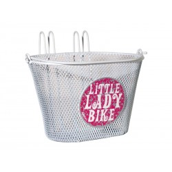 Kosz na rower dziecięcy FASTRIDER LITTLE LADIES BIKE 5L, na haki, biały