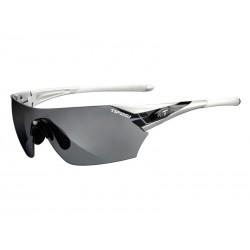 Okulary TIFOSI PODIUM metallic silver 3szkła Smoke 15,4 transmisja światła, AC Red, Clear