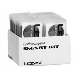 Łatki do dętek zestaw LEZYNE SMART KIT BOX 6x łatki samoprzylepne, tarka, 1x łatka do opony