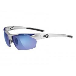 Okulary TIFOSI JET metallic silver 1szkło Smoke Blue 15,4 transmisja światła