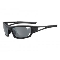 Okulary TIFOSI DOLOMITE 2.0 matte black 3szkła Smoke 15,4 transmisja światła, AC Red, Clear