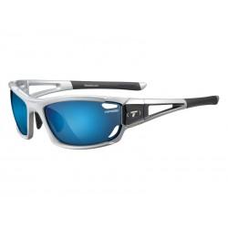 Okulary TIFOSI DOLOMITE 2.0 metallic silver 3szkła Smoke Blue 15,4 transmisja światła, AC Red,