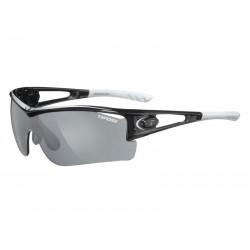 Okulary TIFOSI LOGIC XL race silver 3szkła Smoke 15,4 transmisja światła, AC Red, Clear