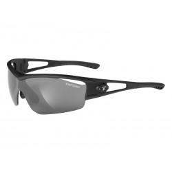 Okulary TIFOSI LOGIC matte black 3szkła Smoke 15,4 transmisja światła, AC Red, Clear