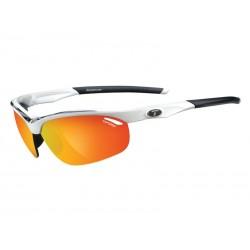 Okulary TIFOSI VELOCE white black 3szkła Smoke Red 15,4 transmisja światła, AC Red, Clear