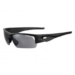 Okulary TIFOSI LORE matte black 3szkła Smoke 15,4 transmisja światła, AC Red, Clear