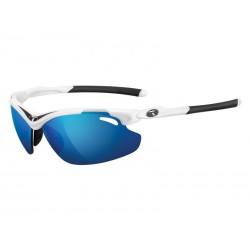 Okulary TIFOSI TYRANT 2.0 CLARION white black 3szkła Clarion Blue LUSTRO 14,7 transmisja światła,