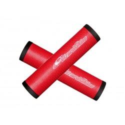 Chwyty kierownicy LIZARDSKINS DSP 30.3 gr.30.3mm 130mm czerwone