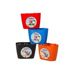 Koszyk na kierownicę WIDEK SAMOLOTY plastikowy mix kolorów pudełko 4szt.