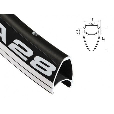 Obręcz szosa ALEXRIMS DA28 700x24otw. bok CNC czarna