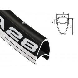 Obręcz szosa ALEXRIMS DA28 700x20otw. bok CNC czarna