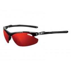Okulary TIFOSI TYRANT 2.0 CLARION gloss black 3szkła Clarion Red LUSTRO 14,5 transmisja światła,