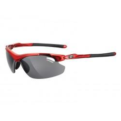 Okulary TIFOSI TYRANT 2.0 metallic red 3szkła Smoke 15,4 transmisja światła, AC Red, Clear