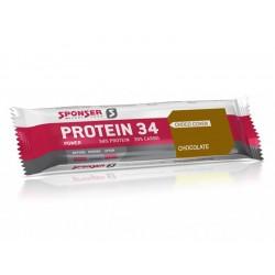 Baton proteinowy SPONSER PROTEIN 34 BAR czekoladowy pudełko 24 szt x 40g