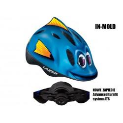 Kask dziecięcy LAZER MAX PLUS M rybka 49-56 cm
