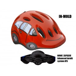 Kask dziecięcy LAZER MAX PLUS M samochodzik czerwony 49-56 cm