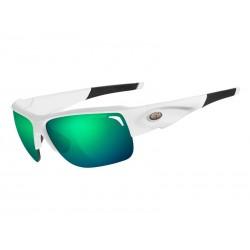 Okulary TIFOSI ELDER CLARION matte white 3szkła Clarion Green LUSTRO 10,3 transmisja światła, AC