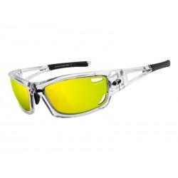 Okulary TIFOSI DOLOMITE 2.0 CLARION crystal clear 3szkła Clarion Yellow 10,9 transmisja światła,