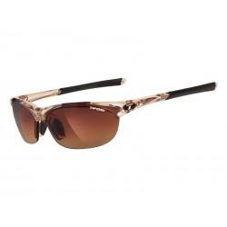 Okulary TIFOSI WISP crystal brown 3szkła Brown Gradient 14,2 transmisja światła, AC Red, Clear