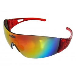 Okulary LAZER MAGNETO Crystal Red Smoke-Black Red REVO, Yellow-Blue Mirror, Clear
