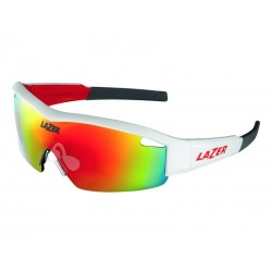 Okulary LAZER SOLID STATE1 Lotto Matte White Smoke-Black Red REVO, Yellow-Blue Mirror, Clear