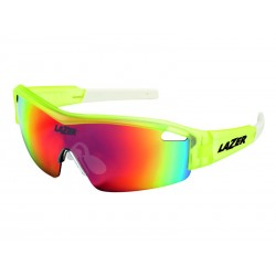 Okulary LAZER SOLID STATE1 Flash Yellow Smoke-Black Red REVO, Yellow-Blue Mirror, Clear