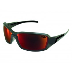 Okulary LAZER XENON Matte Gunmetal Smoke-Black Red REVO