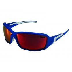 Okulary LAZER XENON Matte Blue Smoke-Black Red REVO