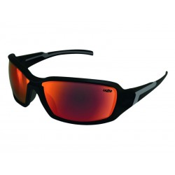 Okulary LAZER XENON Matte Black Smoke-Black Red REVO