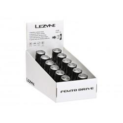 Lampka przednia LEZYNE LED FEMTO DRIVE BOX SET czarna pudełko 12szt.