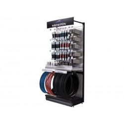 Display VREDESTEIN SPORT wymiary: 100x47x220cm mieści: 20 opon drutowych, 50 opon zwijanych, 100